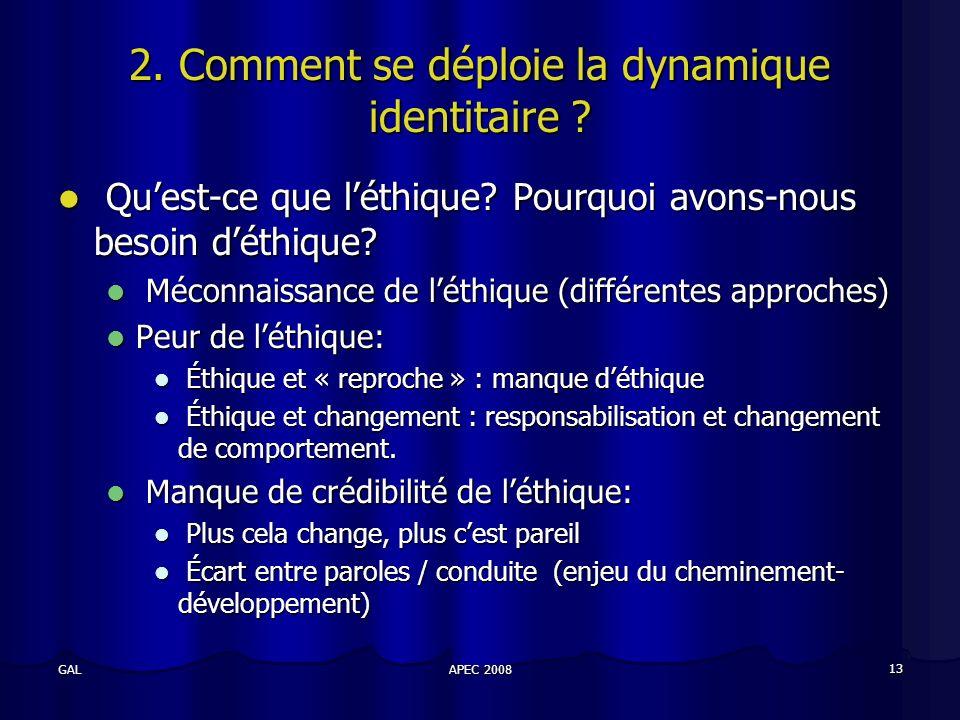 APEC 2008 13 GAL 2. Comment se déploie la dynamique identitaire .