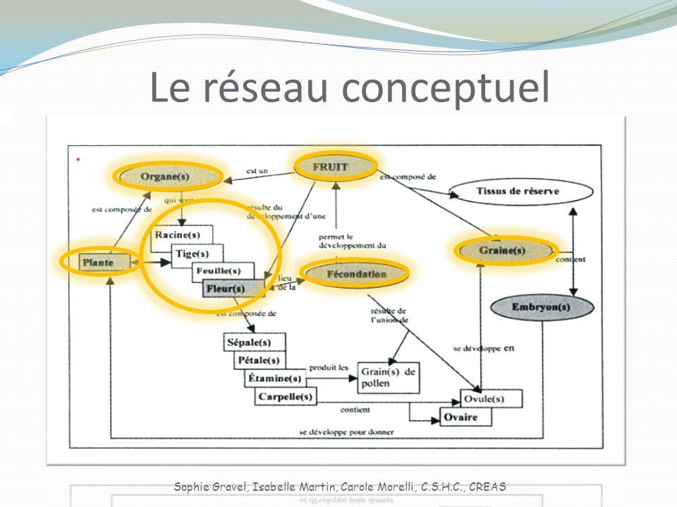 Le réseau conceptuel Sophie Gravel, Isabelle Martin, Carole Morelli, C.S.H.C., CREAS