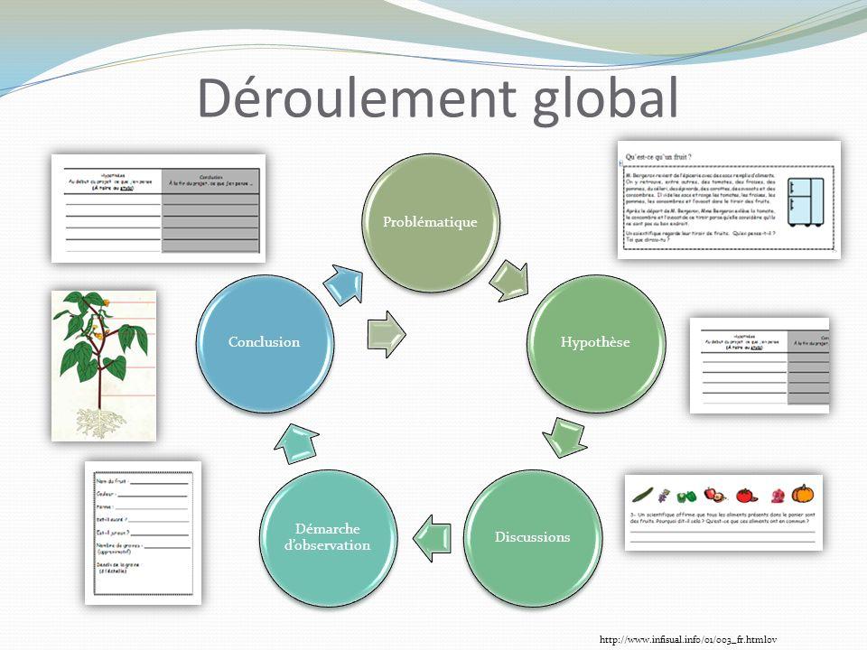 ProblématiqueHypothèseDiscussions Démarche dobservation Conclusion Déroulement global http://www.infisual.info/01/003_fr.htmlov