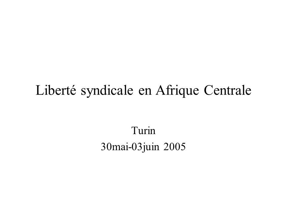 Liberté syndicale en Afrique Centrale Turin 30mai-03juin 2005