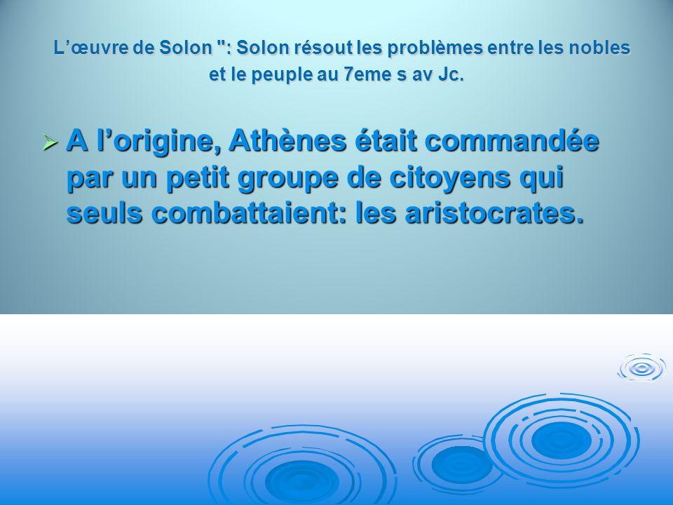 Lœuvre de Solon
