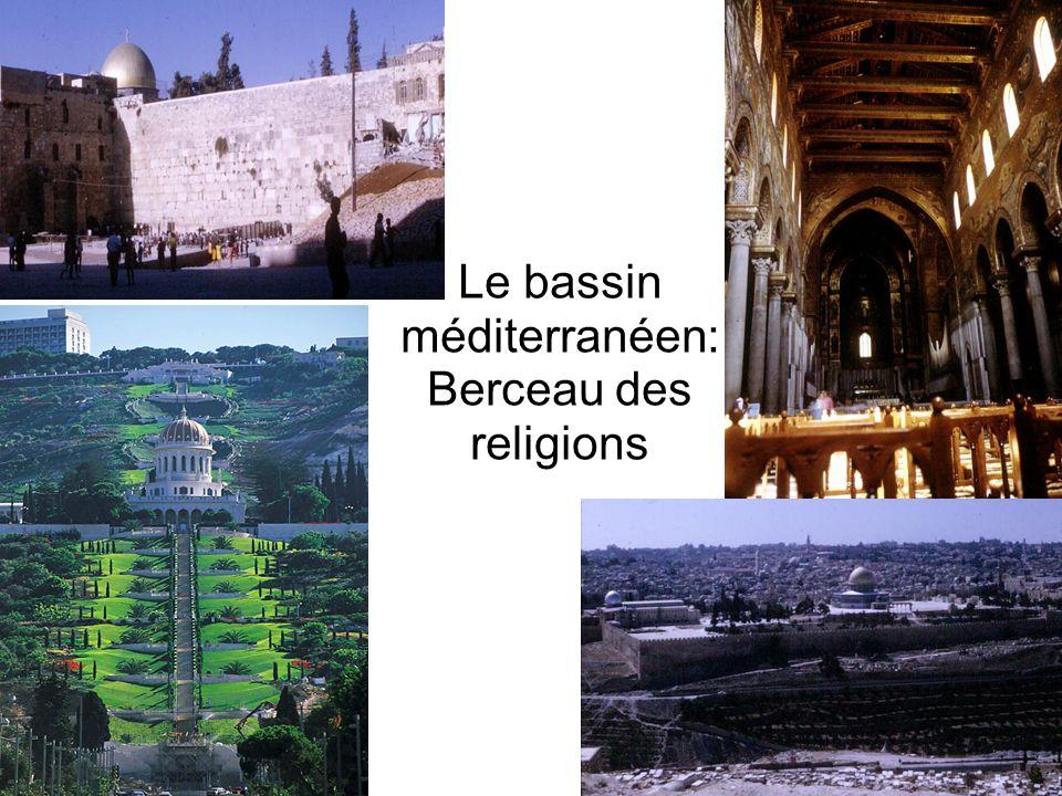Le bassin méditerranéen: Berceau des religions