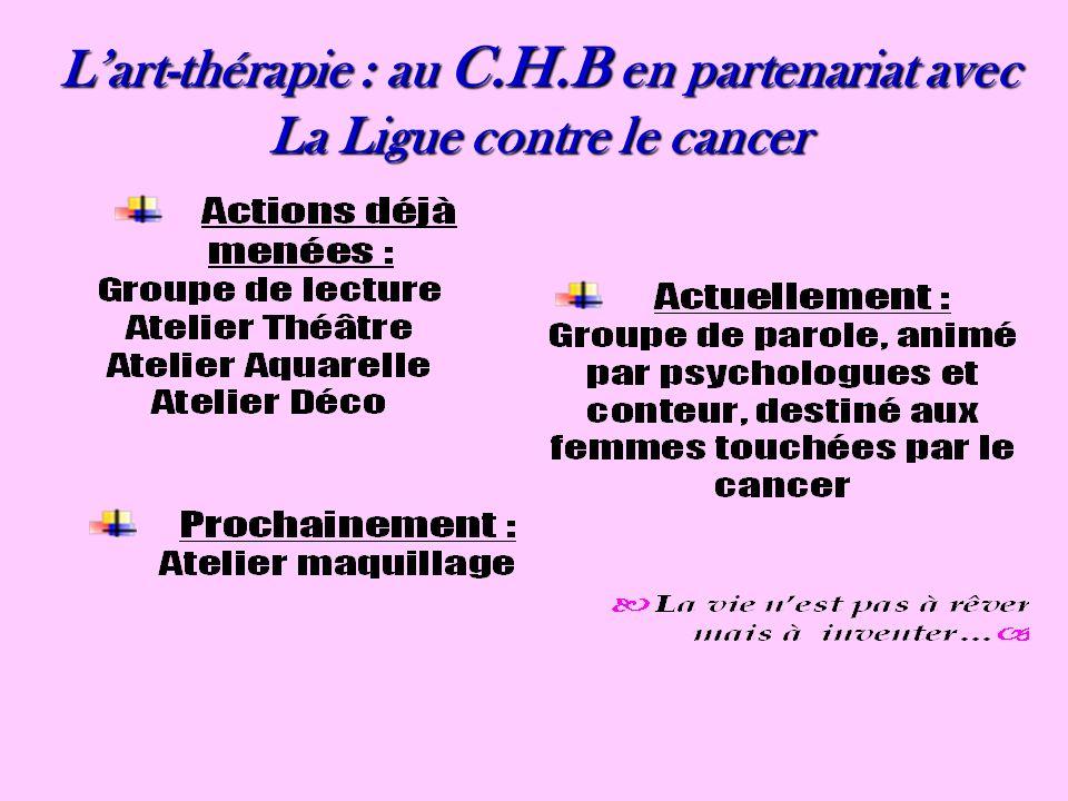 Lart-thérapie : au C.H.B en partenariat avec La Ligue contre le cancer