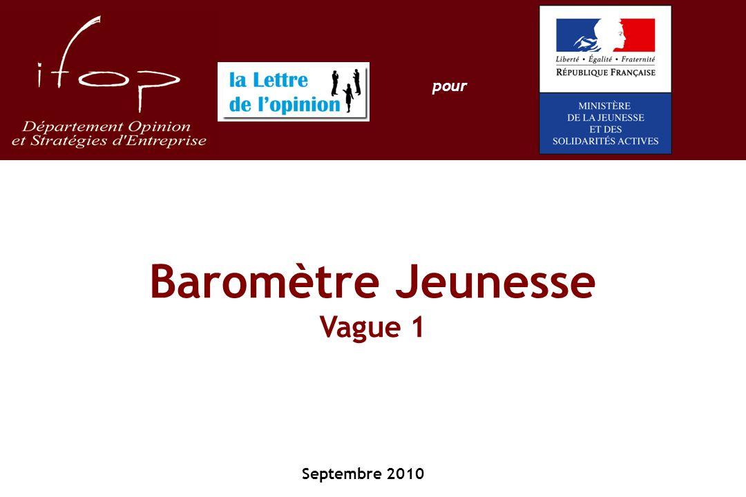 Baromètre Jeunesse Vague 1 Septembre 2010 pour
