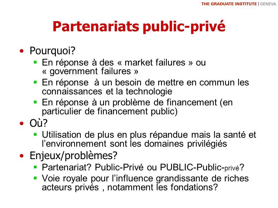 Partenariats public-privé Pourquoi.