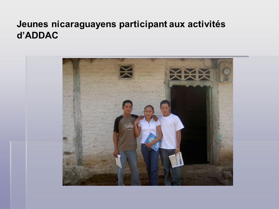 Jeunes nicaraguayens participant aux activités dADDAC