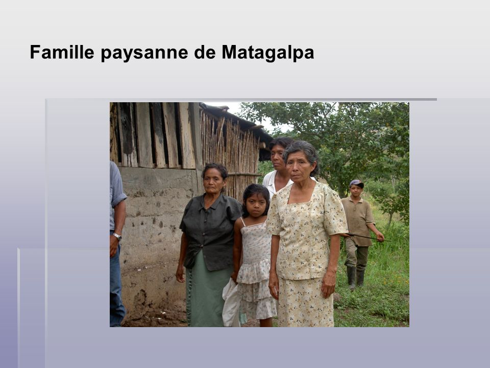 Famille paysanne de Matagalpa