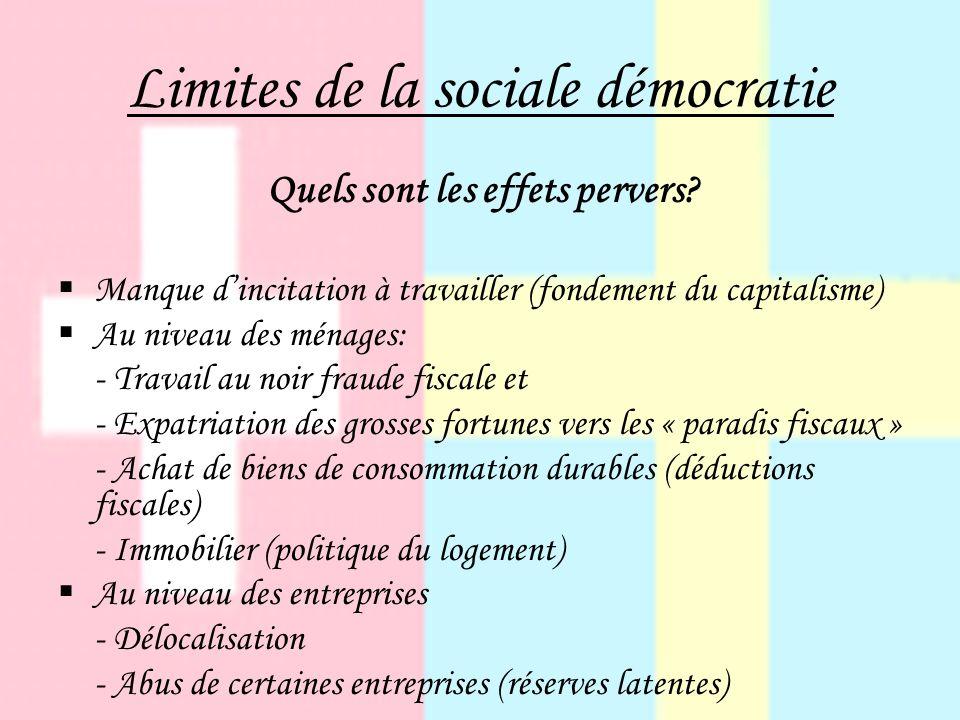 Limites de la sociale démocratie Quels sont les effets pervers.