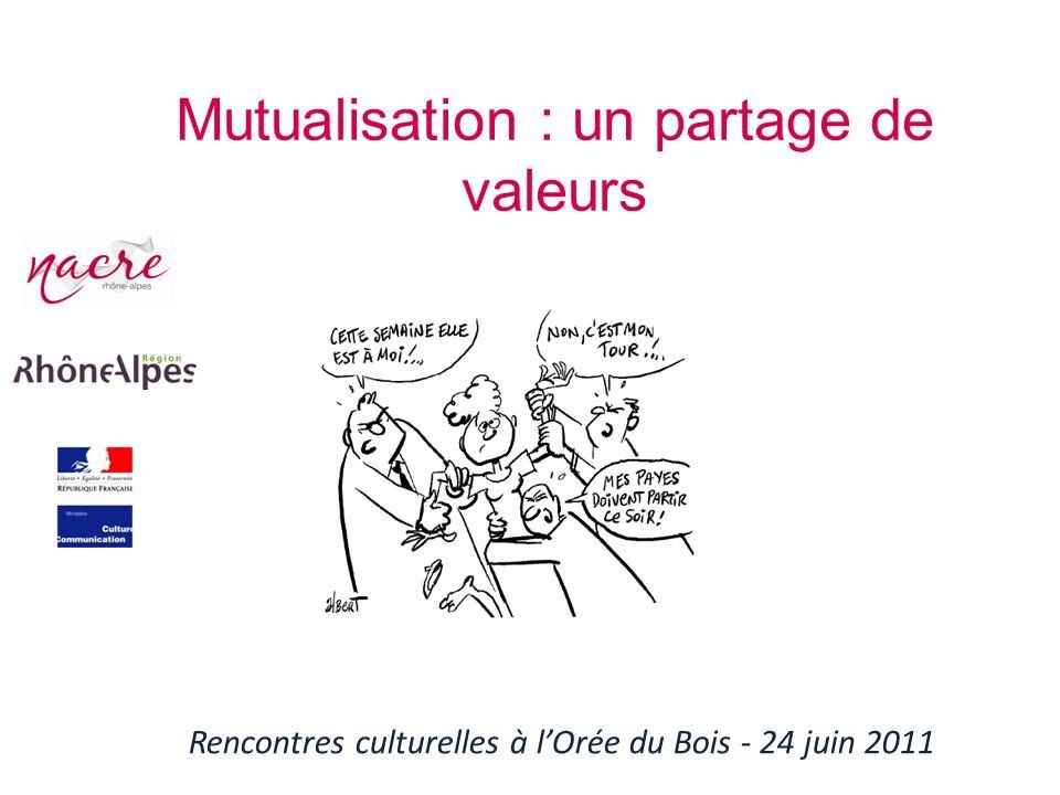 Mutualisation : un partage de valeurs Rencontres culturelles à lOrée du Bois - 24 juin 2011