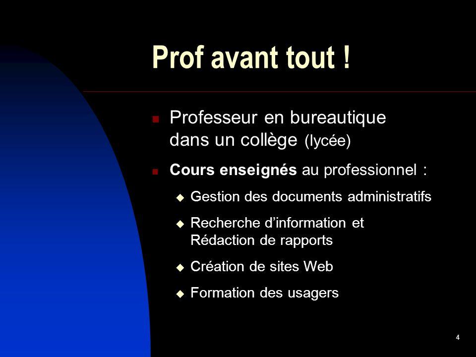 4 Prof avant tout .