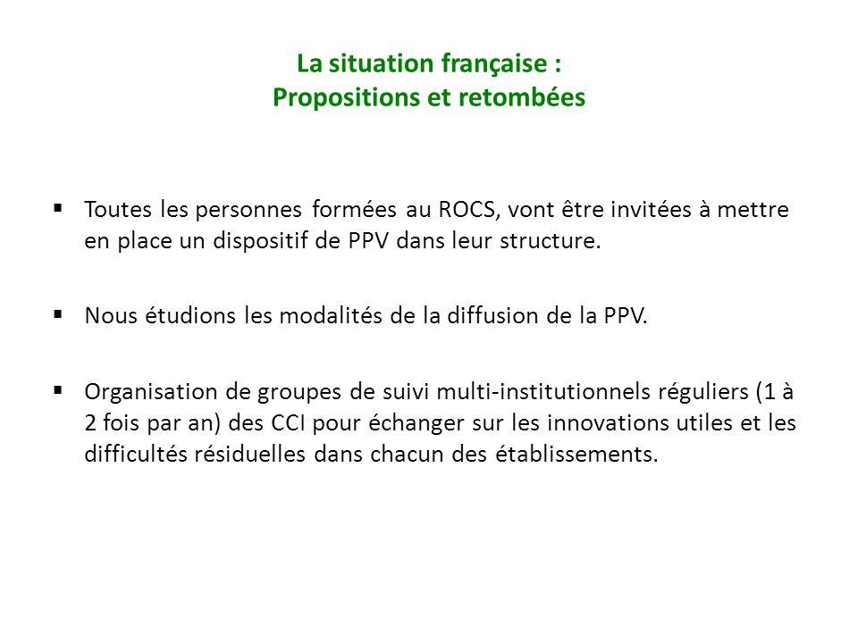 Toutes les personnes formées au ROCS, vont être invitées à mettre en place un dispositif de PPV dans leur structure. Nous étudions les modalités de la