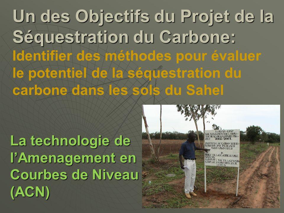 La technologie de lAmenagement en Courbes de Niveau (ACN) Un des Objectifs du Projet de la Séquestration du Carbone: Un des Objectifs du Projet de la
