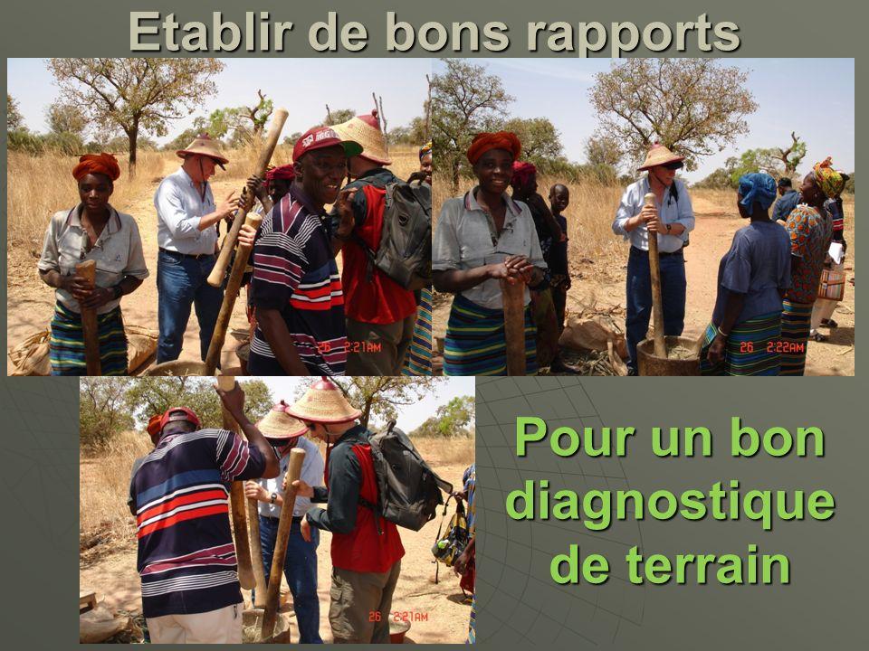 Etablir de bons rapports Pour un bon diagnostique de terrain