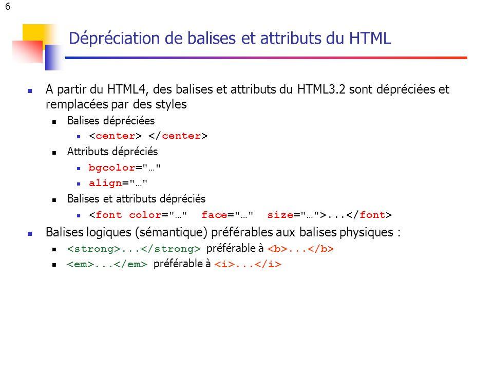 27 L identifiant id du (X)HTML id est un attribut générique qui s applique à toutes sortes d éléments.