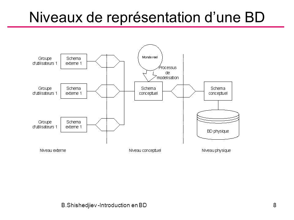 Niveaux de représentation dune BD B.Shishedjiev -Introduction en BD8