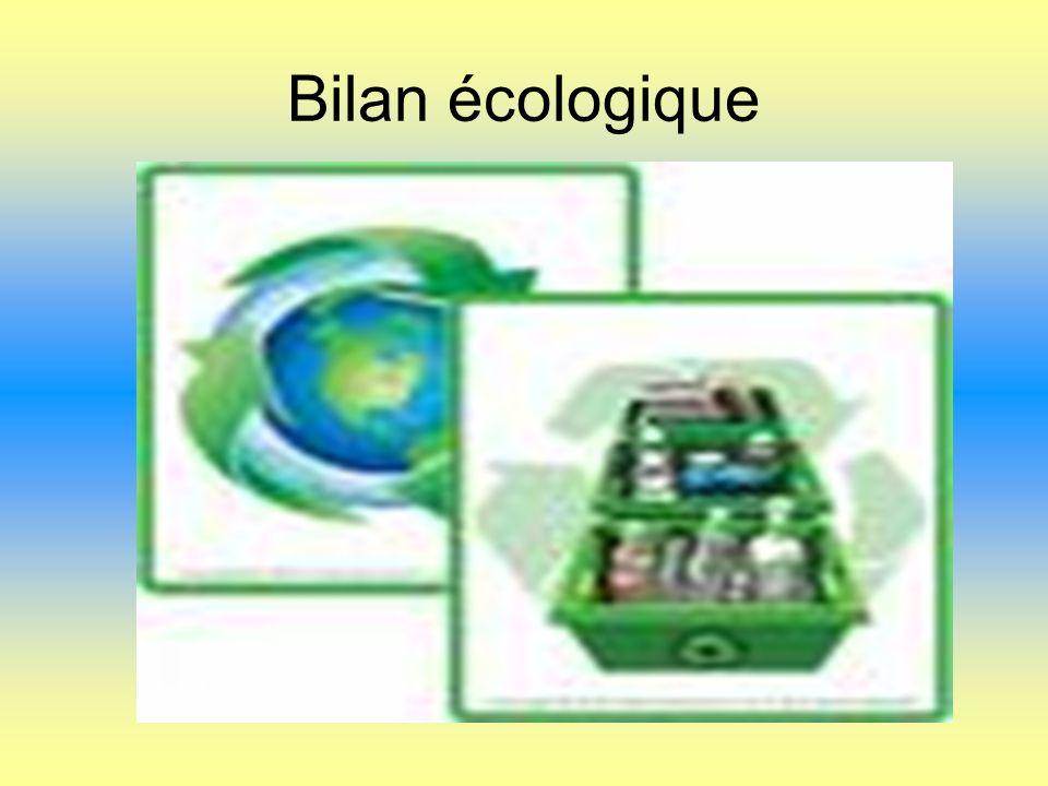 Bilan écologique