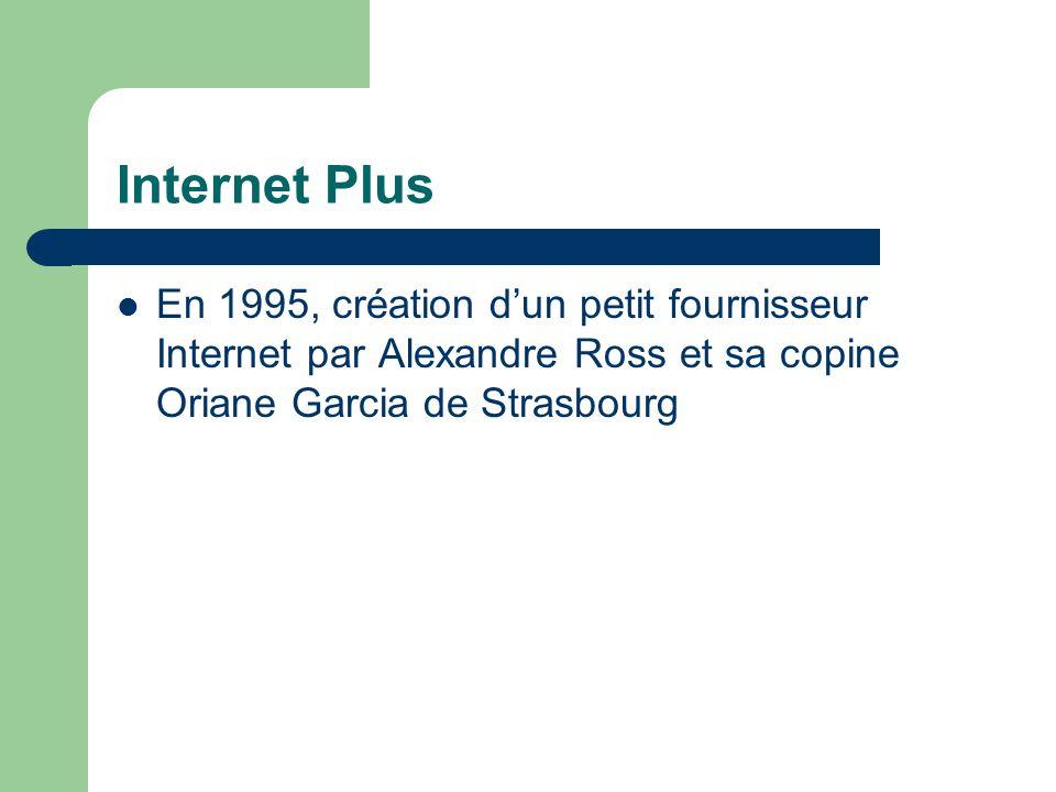 Internet Plus En 1995, création dun petit fournisseur Internet par Alexandre Ross et sa copine Oriane Garcia de Strasbourg