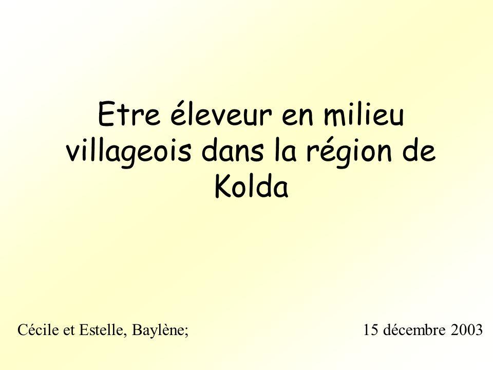 Etre éleveur en milieu villageois dans la région de Kolda Cécile et Estelle, Baylène; 15 décembre 2003