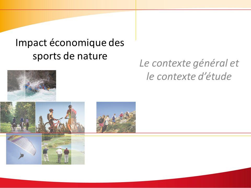 Le contexte général et le contexte détude Impact économique des sports de nature