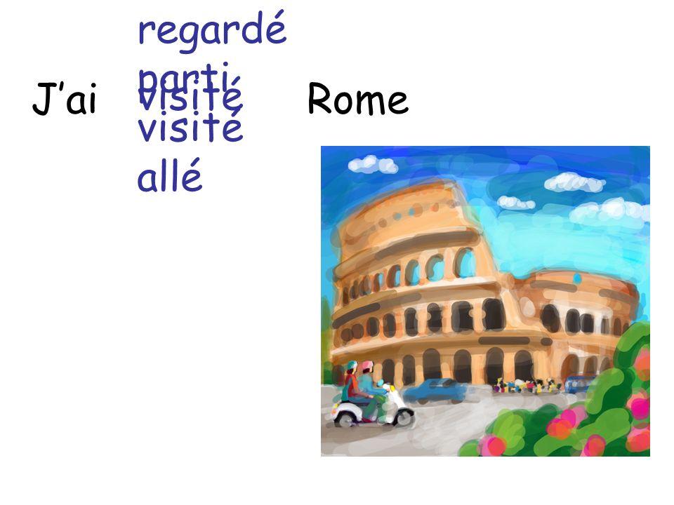 Jai Rome regardé parti visité allé visité