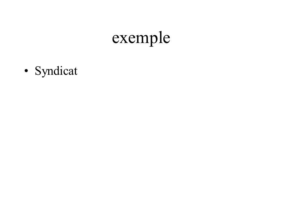 exemple Syndicat