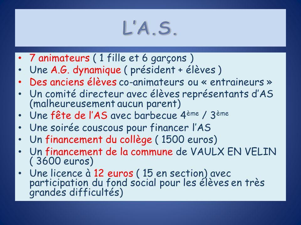 Pole compétition : Amener les élèves au plus haut niveau (district, inter district, départementaux, académique, France).