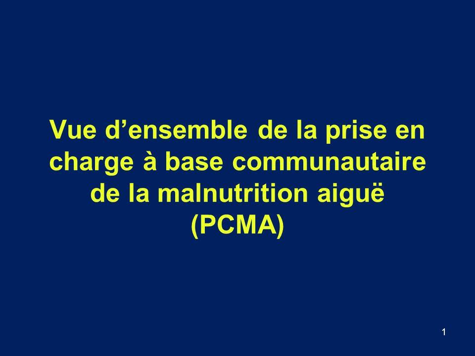 1 Vue densemble de la prise en charge à base communautaire de la malnutrition aiguë (PCMA)
