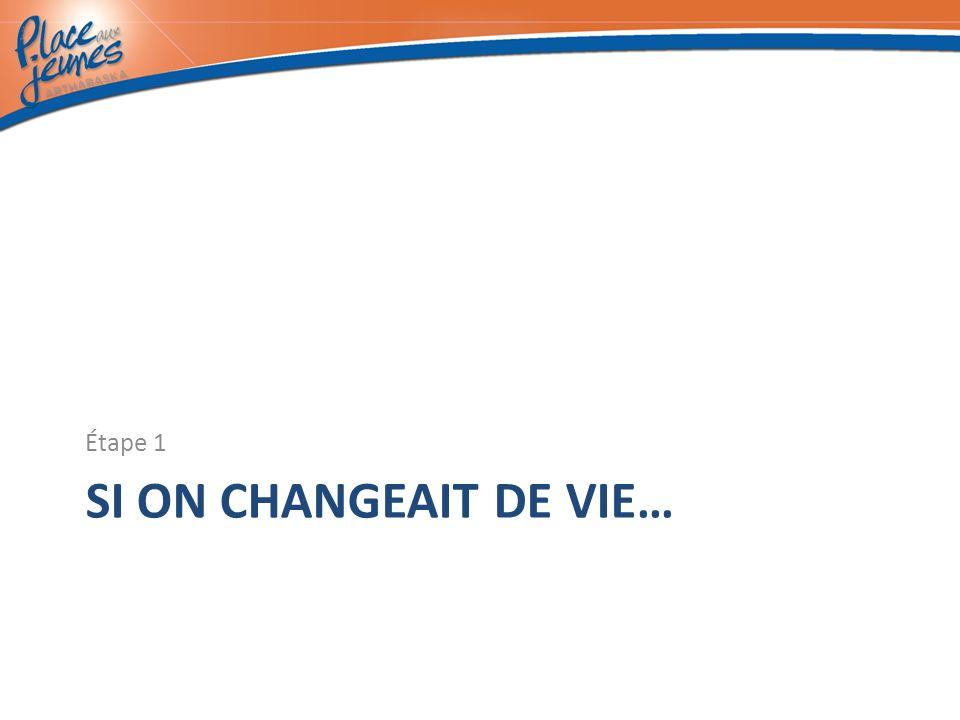 SI ON CHANGEAIT DE VIE… Étape 1
