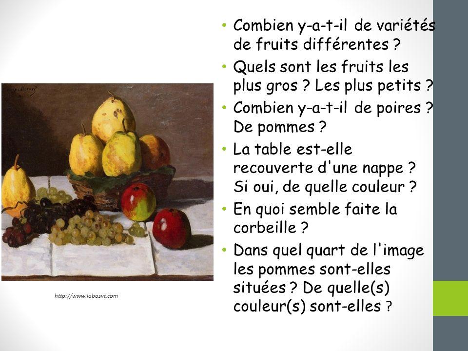 Combien y-a-t-il de variétés de fruits différentes .