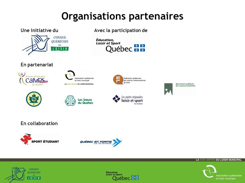 Organisations partenaires Une initiative du Avec la participation de En partenariat En collaboration 13