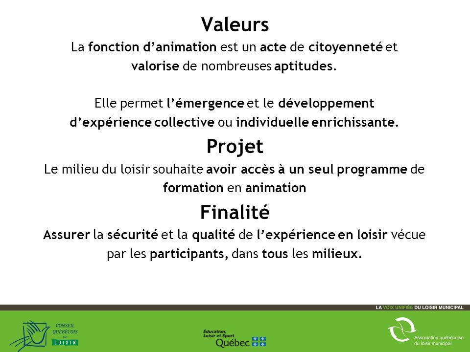 Valeurs La fonction danimation est un acte de citoyenneté et valorise de nombreuses aptitudes.