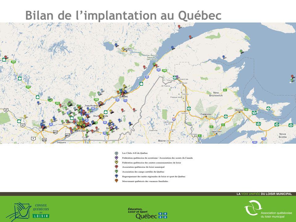18 Bilan de limplantation au Québec