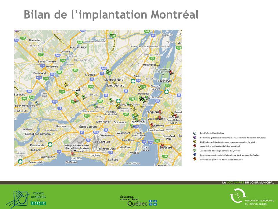 19 Bilan de limplantation Montréal