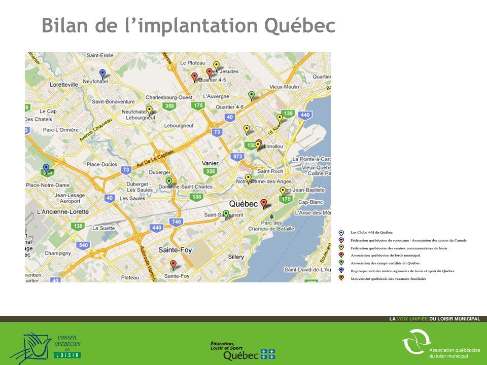 20 Bilan de limplantation Québec