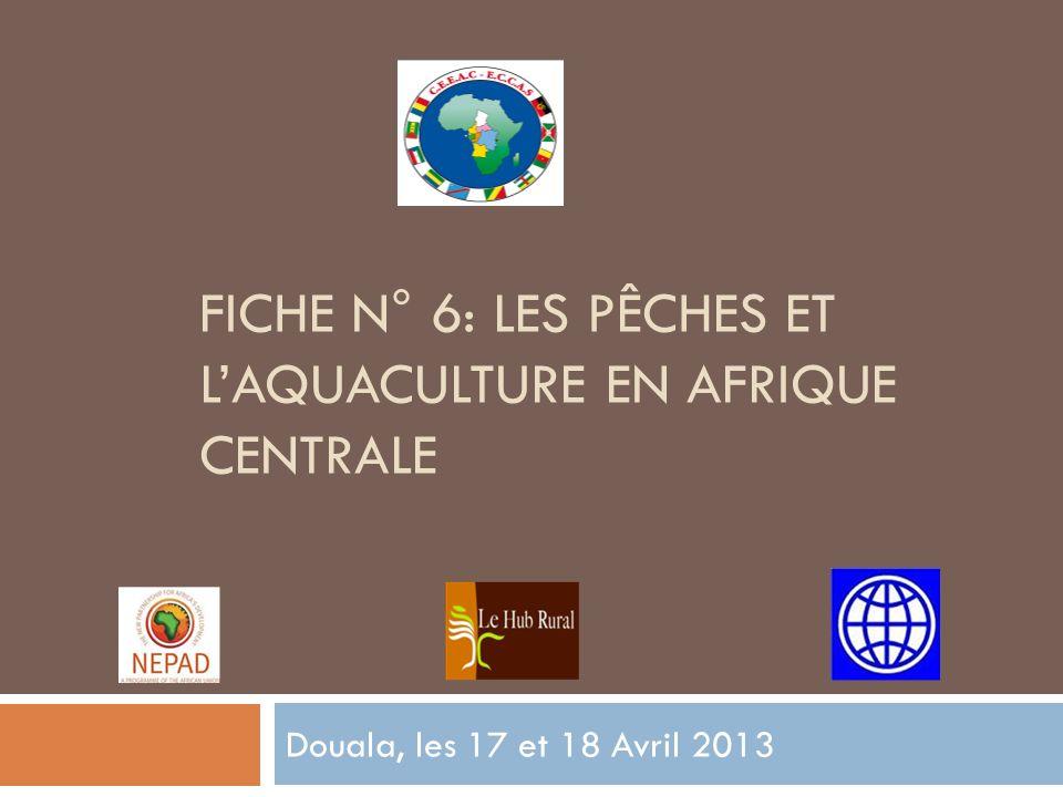 FICHE N° 6: LES PÊCHES ET LAQUACULTURE EN AFRIQUE CENTRALE Douala, les 17 et 18 Avril 2013