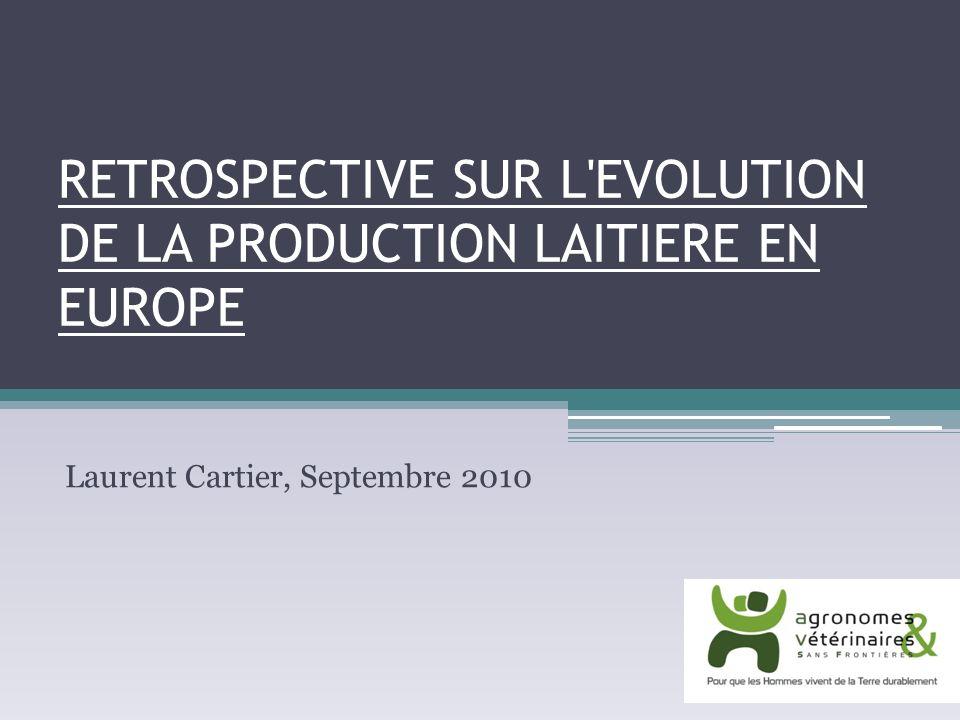 Lévolution de la production laitière en France Une évolution des structures de production et des modes de production Un développement de lappui conseil et de la recherche Développement de la mécanisation Développement du crédit bancaire Développement du système PAC Evolution des modes de commercialisation