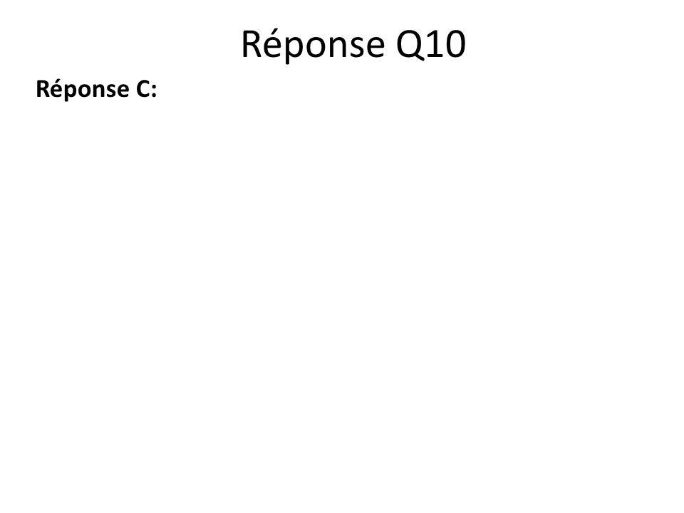 Réponse Q10 Réponse C:
