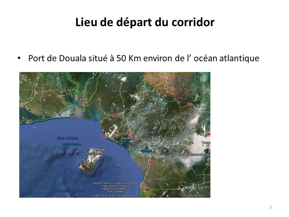 Lieu de départ du corridor Port de Douala situé à 50 Km environ de l océan atlantique 3