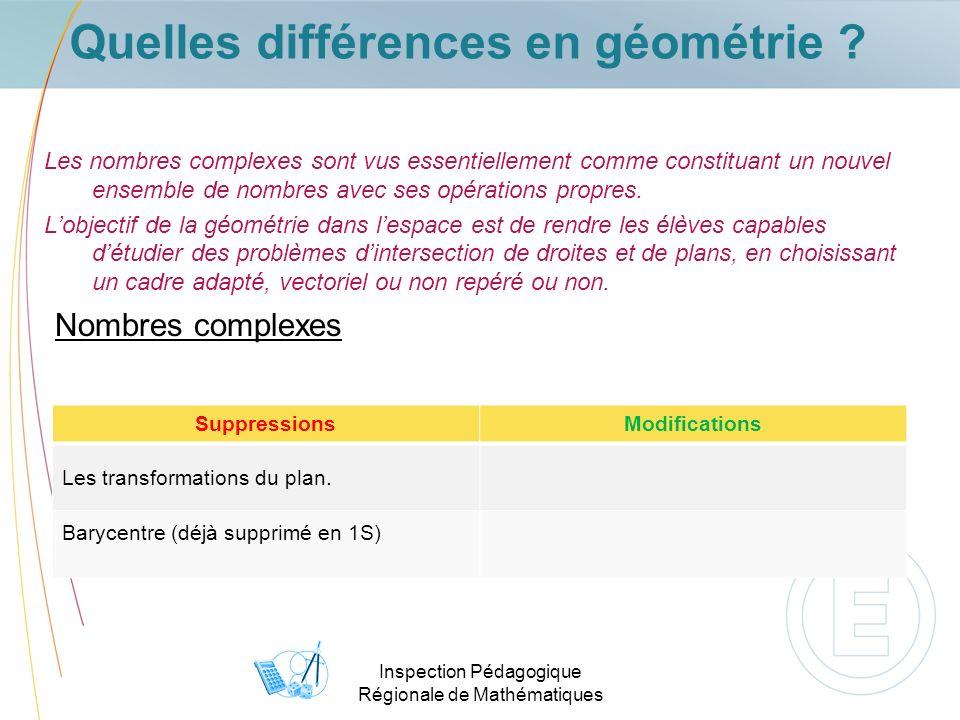 Inspection Pédagogique Régionale de Mathématiques Quelles différences en géométrie .