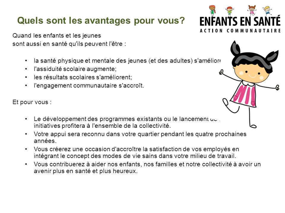 ANNEXE : THÈMES POSSIBLES DE L ACTION COMMUNAUTAIRE ENFANTS EN SANTÉ 11