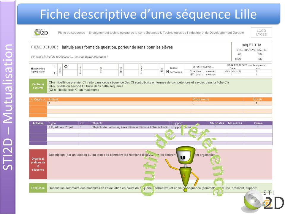Fiche descriptive dune séquence Lille STI2D – Mutualisation