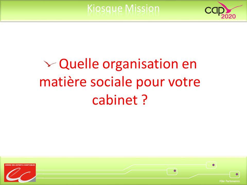Pôle Partenaires Quelle organisation en matière sociale pour votre cabinet