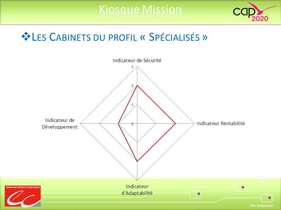 Pôle Partenaires 16 L ES C ABINETS DU PROFIL « S PÉCIALISÉS »
