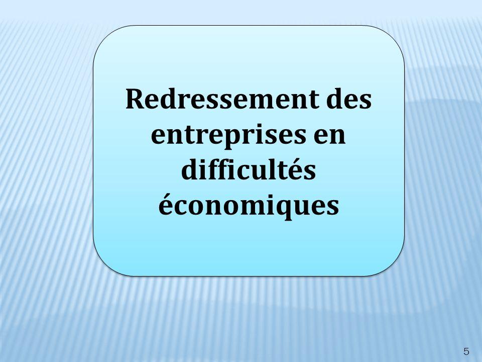 Redressement des entreprises en difficultés économiques 5
