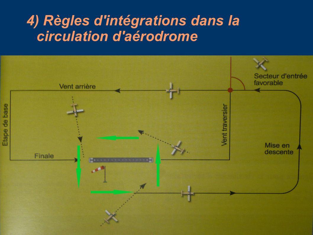 4) Règles d'intégrations dans la circulation d'aérodrome