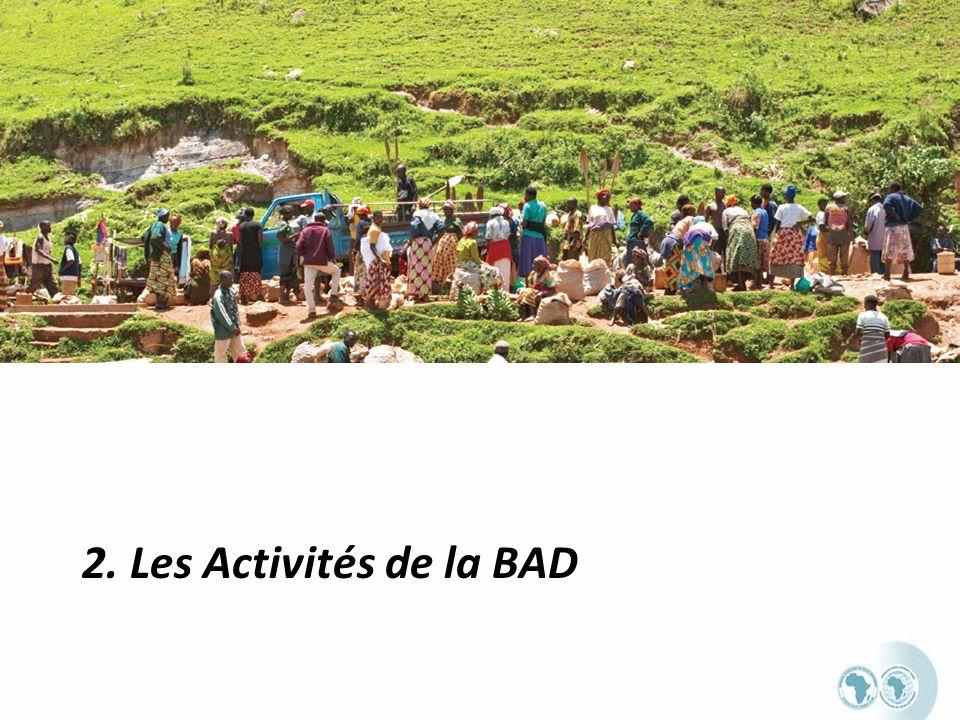 2. Les Activités de la BAD