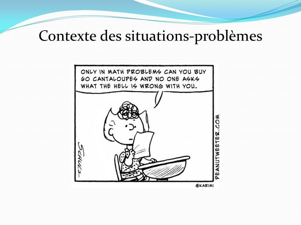 Contexte des situations-problèmes