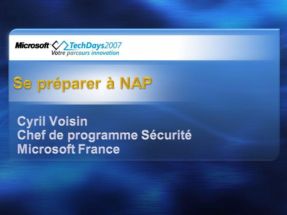 Rappels sur NAP Démo de configuration et de fonctionnement avec 802.1X Comment se préparer