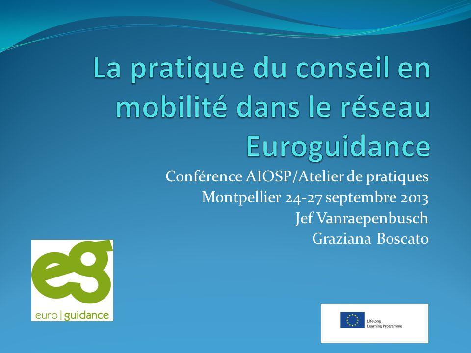 Conférence AIOSP/Atelier de pratiques Montpellier 24-27 septembre 2013 Jef Vanraepenbusch Graziana Boscato
