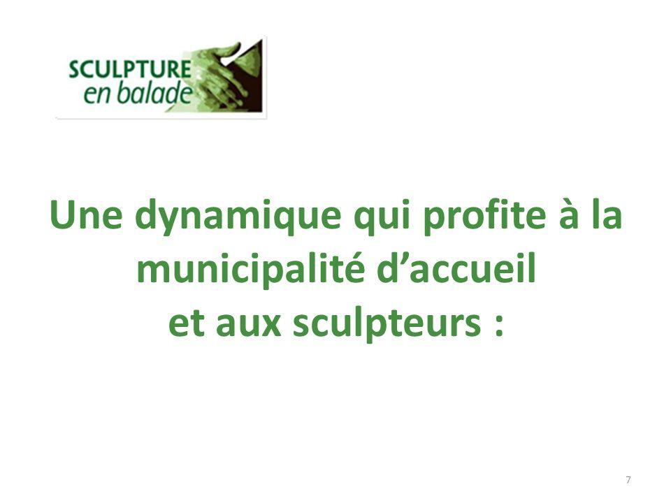 Une dynamique qui profite à la municipalité daccueil et aux sculpteurs : 7